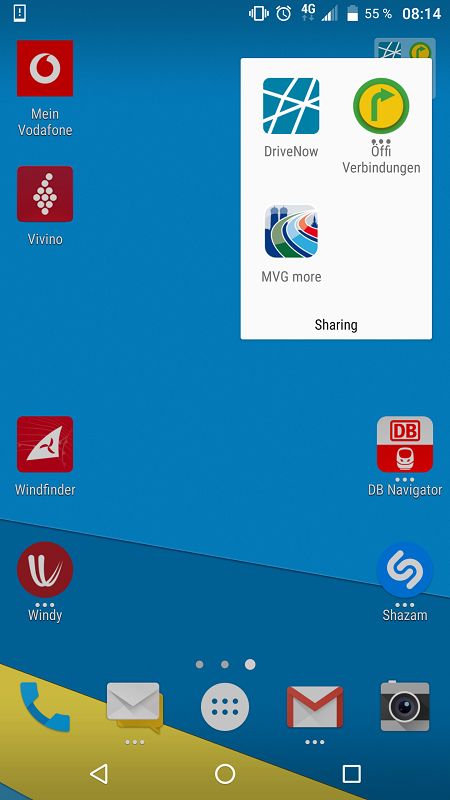 Homescreen Sebastian Singer Urmo Mobilitäts-Apps