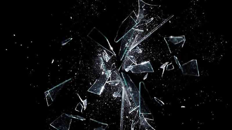 Glas, zerbrochenes Glas, Splitter, Explosion, Skandale