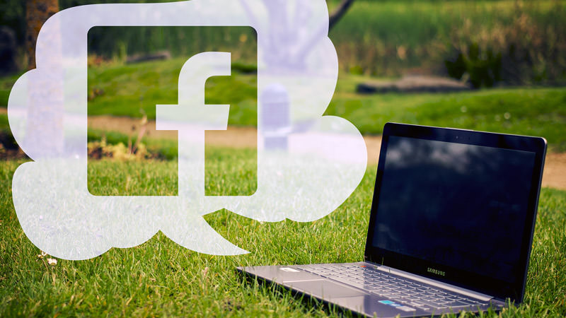 Facebook, Laptop, Rasen, Facebook-Verifizierung