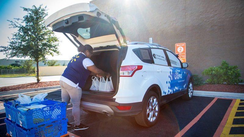 Walmart Postmates Ford autonomer Lieferdienst Warenlieferung
