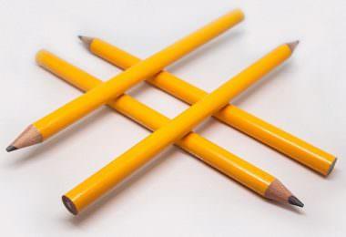 Hashtag, Hashtags, Bleistifte, Bleistift, Hashtags bei Instagram