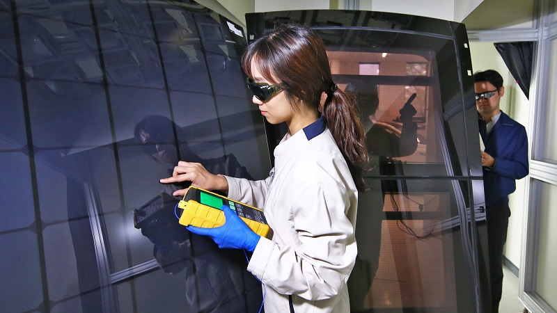 Hyundai Solardach Solarzellen Detail