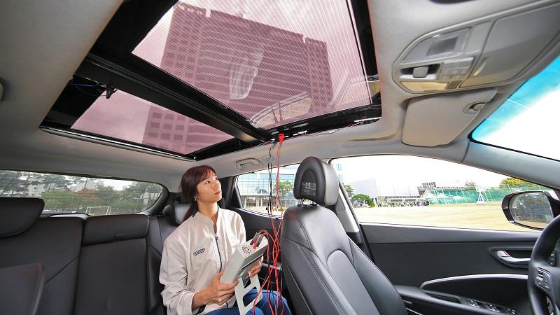 Hyundai Solardach transparent Innenraum
