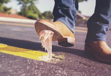 Kaugummi, Straße, Schuhe, Boots, Scheitern ist scheiße