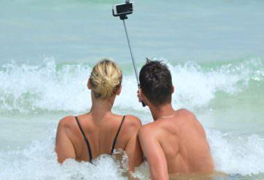 Selfie, Selfies, Meer, Strand, Foto, Porträt