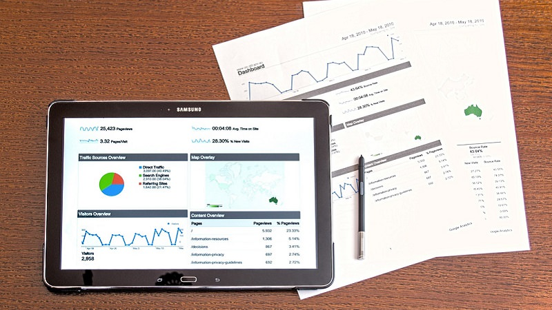 Tablet, Statistiken, Grafik, Analyse, Google Keywords