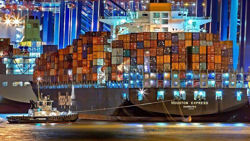Hamburg Hafen Container Schiffe