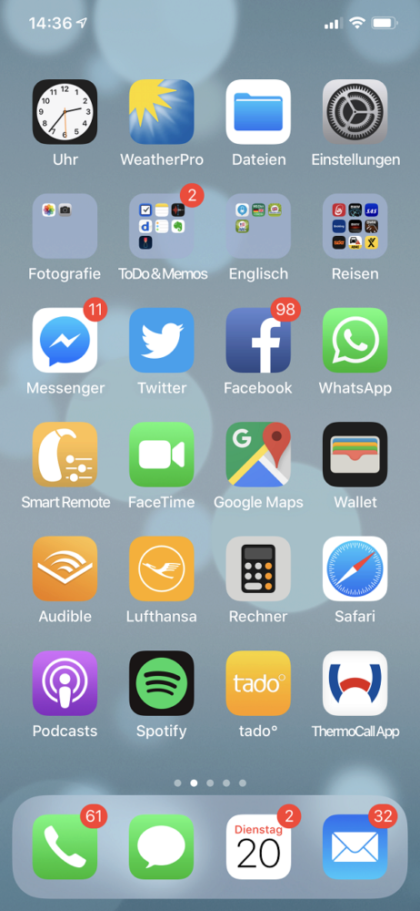 Wolfgang Bscheid, Mediacale, Agentur, Homescreen, iPhone, Apple