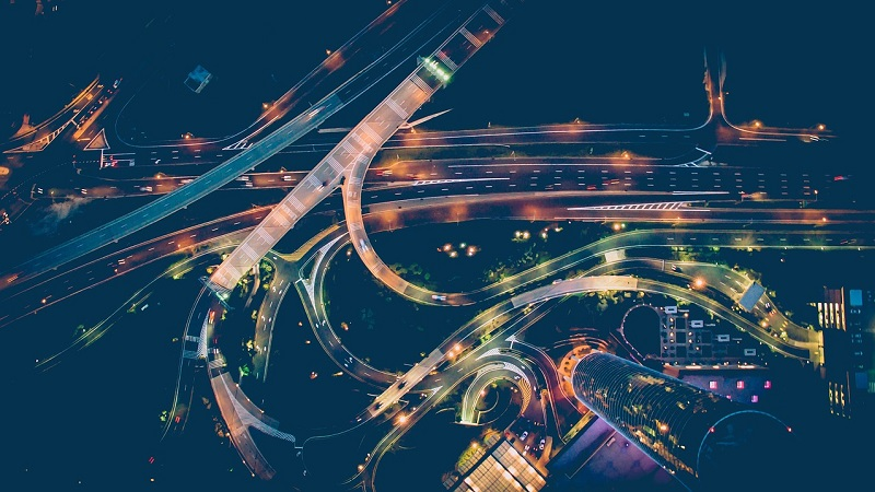 Autobahn Luftansicht