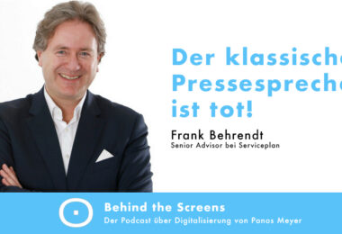 Frank Behrendt, Panos Meyer, Behind the Screens