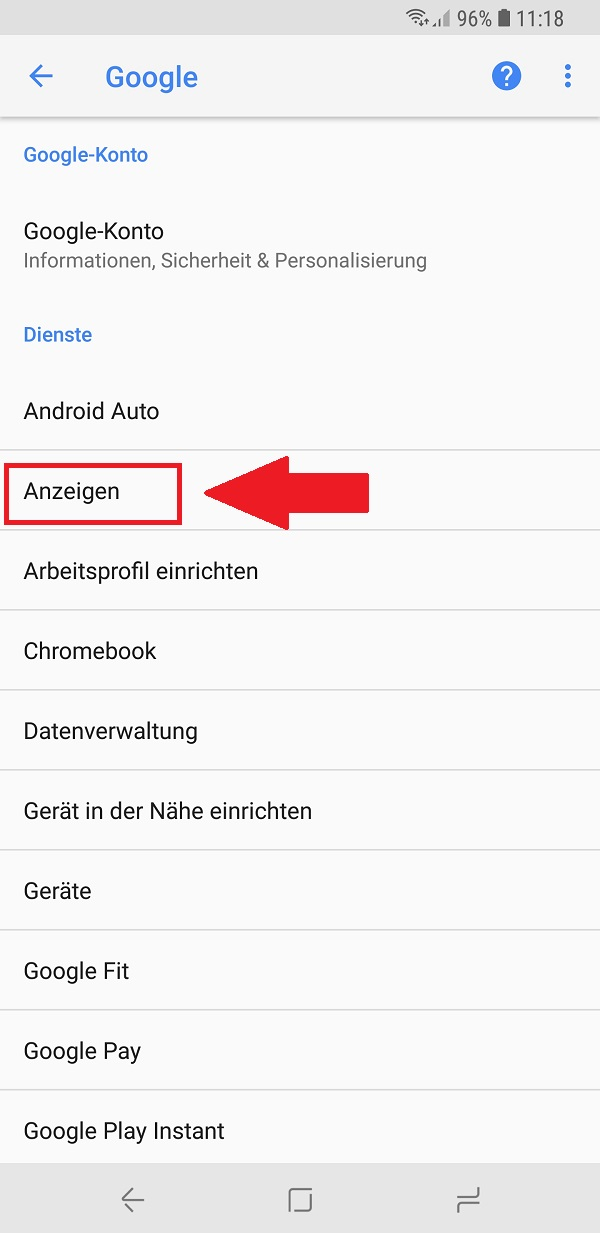 Ad-Tracking, Adtracking, Ad-Tracking deaktivieren, Android