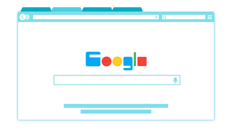 Google, Suchmaschine, Zeichnung, Google-Keywords