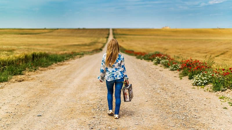 Abschied, Reise, Koffer, Aufbruch, Follower löschen