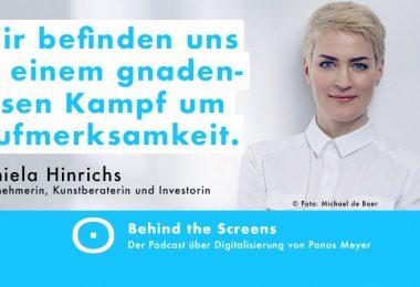 Daniela Hinrichs, Panos Meyer, Behind the Screens