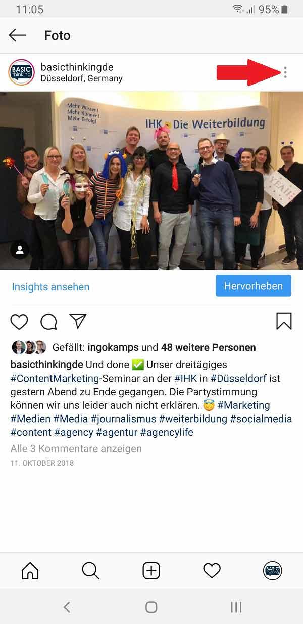 Instagram ALT-Tag, alternative Bildbeschreibungen bei Instagram