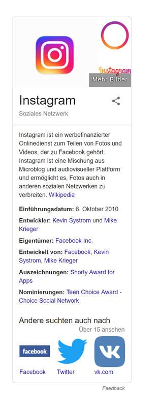 Instagram-SEO, Schema.org-Markup