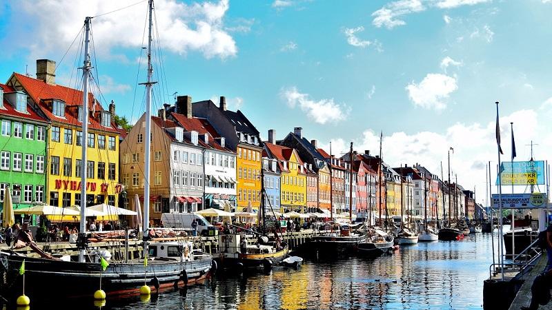 Nyhavn Distrikt Kopenhagen Boote