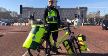 Fahrradsanitäter der Cycle Response Unit London