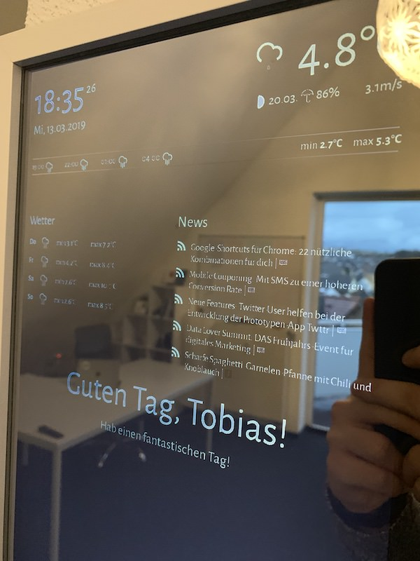 Smart Mirror - smarter Spiegel - selber bauen Anleitung