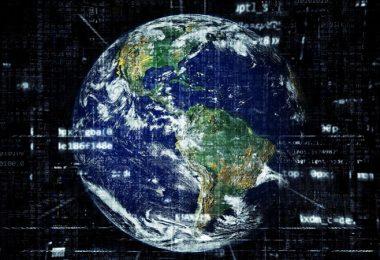 Erde, Welt, Globus, Internet, Weltraum, Orbit, eine Minute im Internet