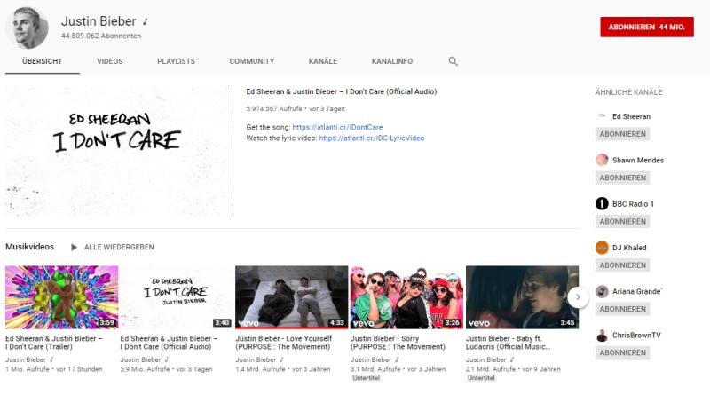 Das sind die 10 größten YouTube-Kanäle der Welt