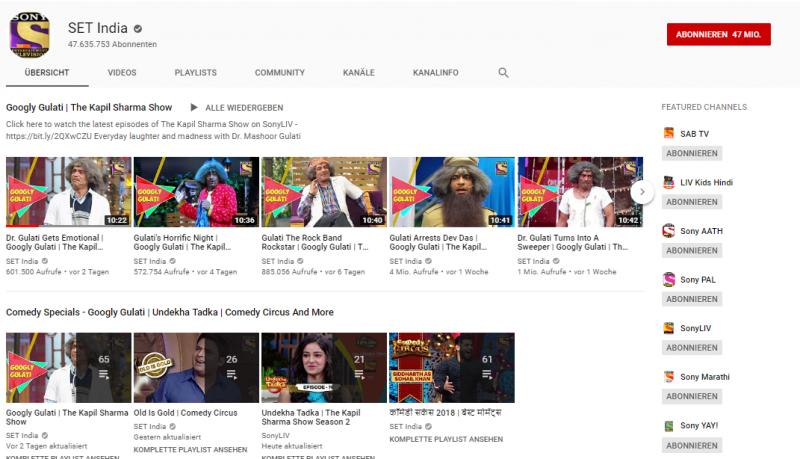 Set India Youtube