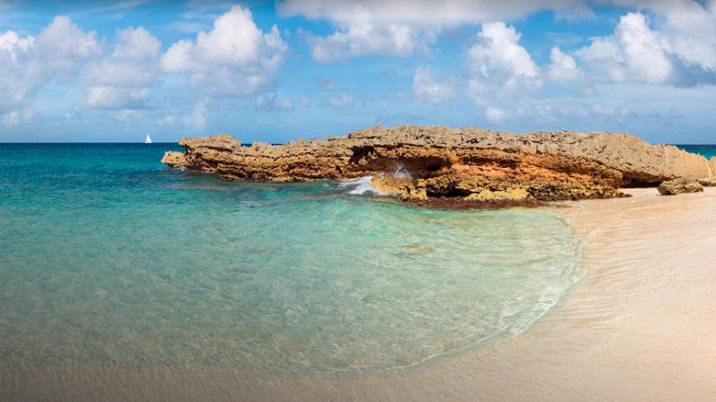 Anguilla Karibikinsel Strand