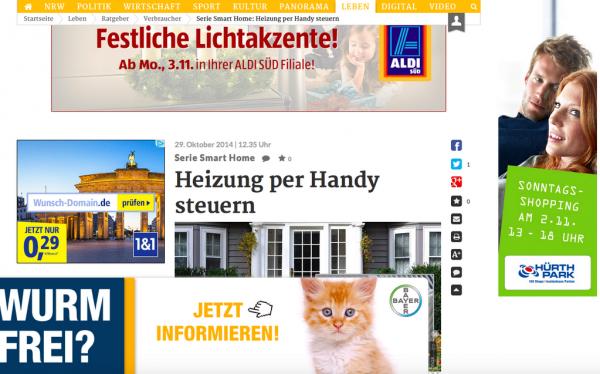 Werbung Online Medien Banner Advertorials