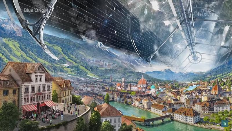 Florenz im Weltraum Konzept Blue Origin