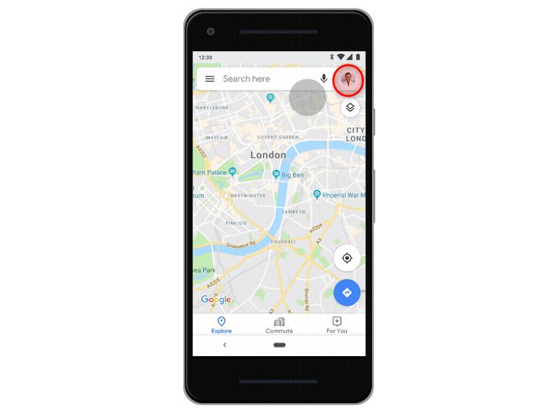 Google Maps Profilfoto