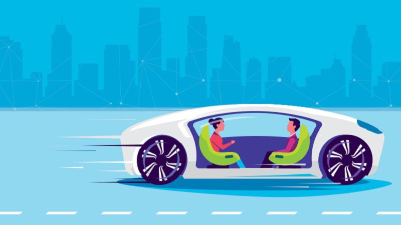 Grafik autonomes Fahren
