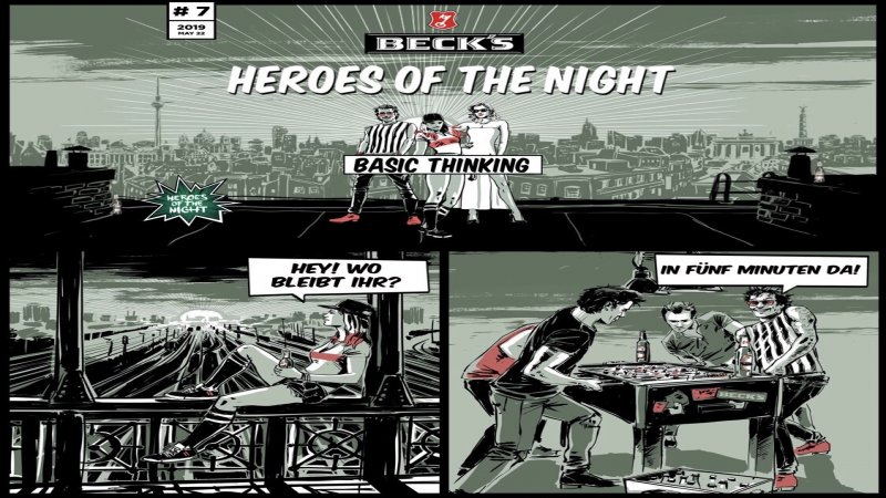 Heroes of the Night, Becks, App, App-Marketing, Unterhaltuung
