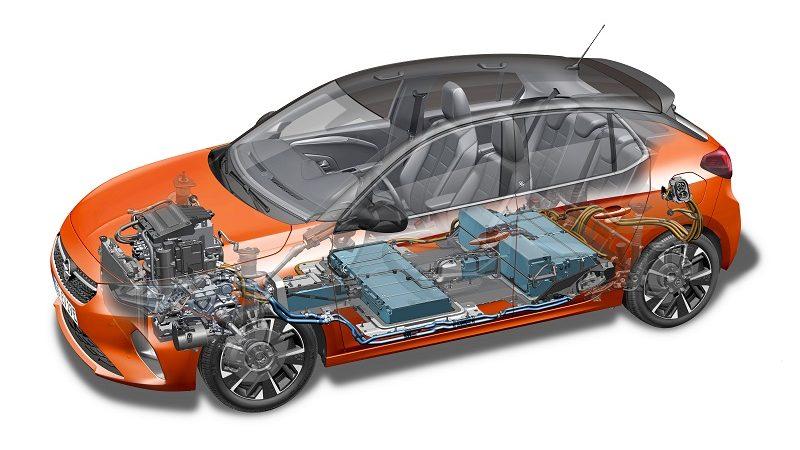 Opel Corsa-C durchsichtiger Querschnitt