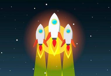 Rakete, Rocket, Raketenstart, erfolgreiche Facebook-Gruppe
