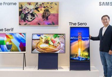 Samsung Sero, Vertical TV, Fernsehen, Fernseher