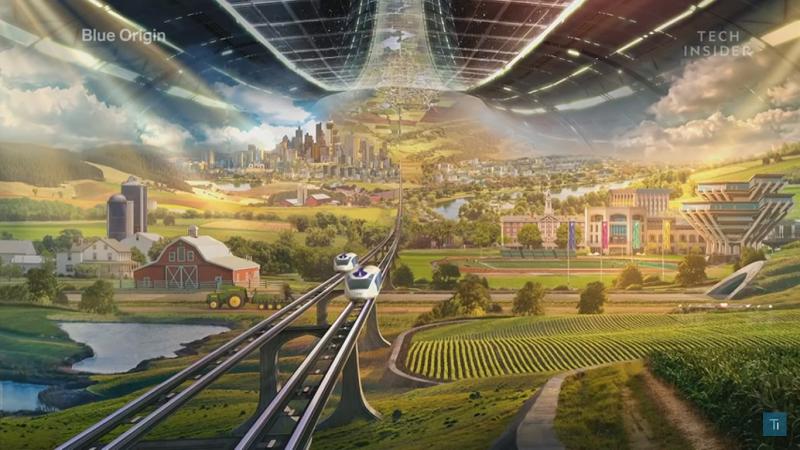 Blue Origin: Jeff Bezos wahnwitziger Plan für gigantische Städte im All