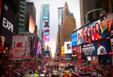 Werbung Advertorial New York Time Square