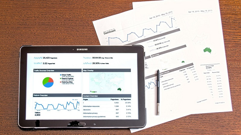 Analyse, Analytics, Google, Tablet, Statistiken, Google-Werbung