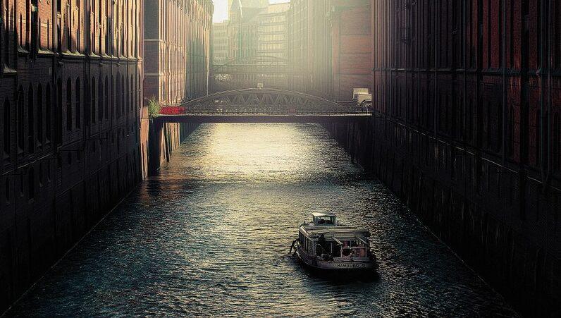 Boot, Kanal, Hamburg