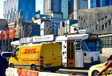 DHL, Logistik, Melbourne, Australien, Transporter, Online-Handel, E-Commerce