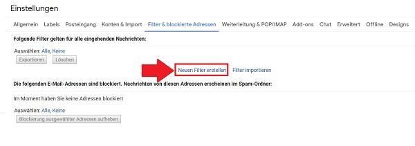 Gmail Regeln Erstellen
