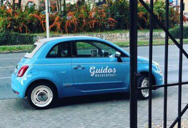 Fiat Cinquecento, Guidos Wochenpost, Guido Augustin, emotionale Werbung, Außenwerbung