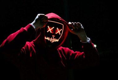 Maskenmann, Gangster, Kapuze, Dark Social, Dunkelheit, Dieb, Monster