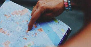 Karte, Stadtplan, Orientierung