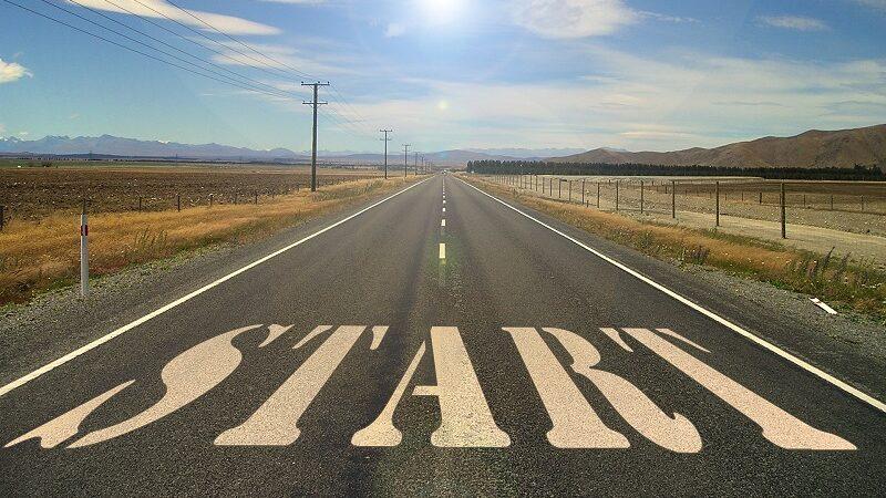 Straße, Fahrbahn, Konzept, Ziel