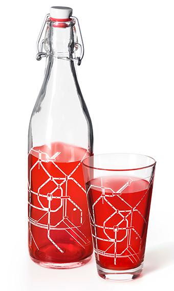 Flasche, Glas