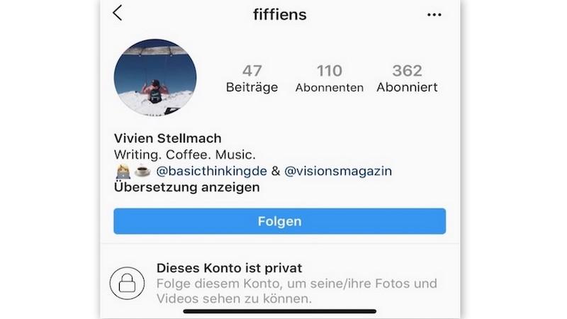 Instagram, Privatsphäre, Instagram privat nutzen