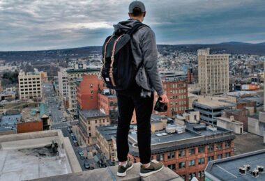 Fotograf, Millennial, Millennials, Dach, Ausblick, Rooftop