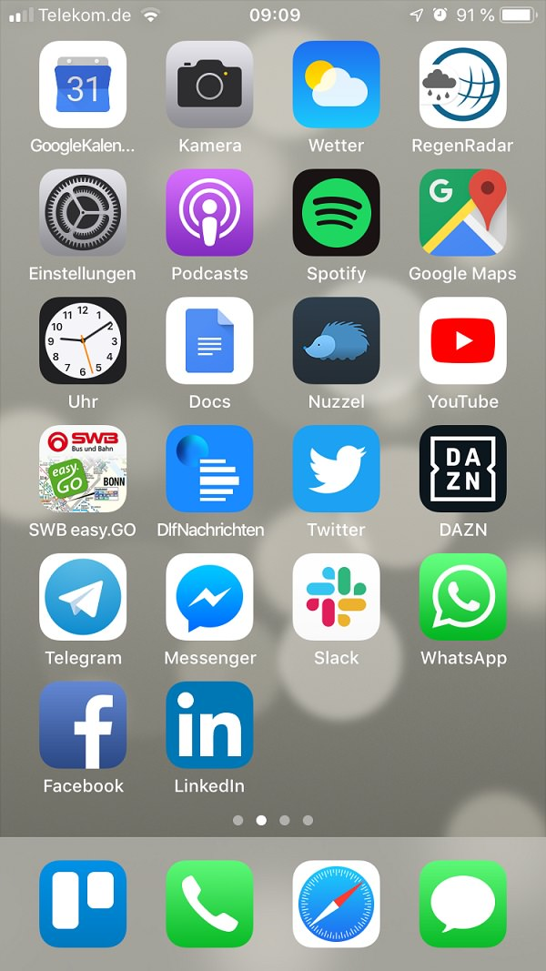 Homescreen, iPhone, Benjamin O'Daniel, Jaeckert & O'Daniel Onlinemarketing