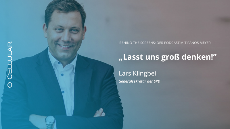 Lars Klingbeil, SPD, Panos Meyer, Behind the Screens, Podcast